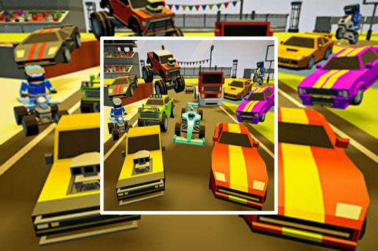 3D Arena Racing: 2 Player