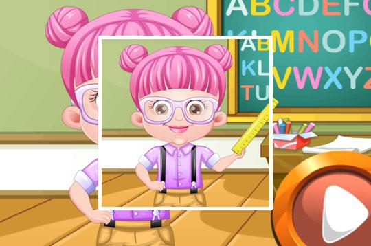 Baby Hazel As Teacher Dressup