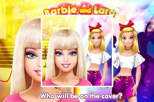 Barbie and Lara Red Carpet Challenge