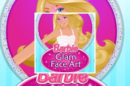Barbie Glam Face Art