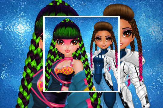 Cyberpunk Hairstyle 2200