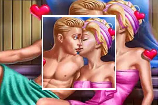 Ellie And Ben Sauna Flirting