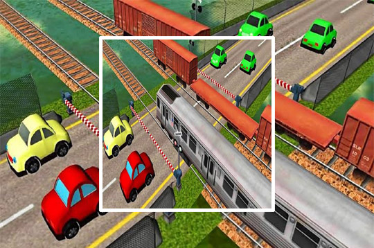 Euro Railroad Crossing: Railway Train Passing 3D