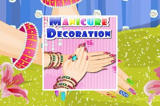 Floral Manicure Decoration