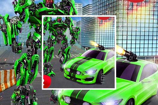 Grand Robot Car Tranform 3D