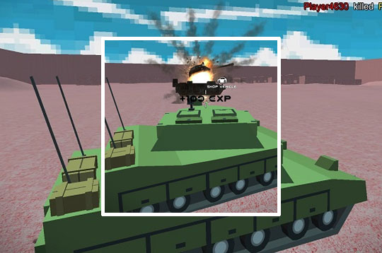 Helicopter And Tank Battle Desert