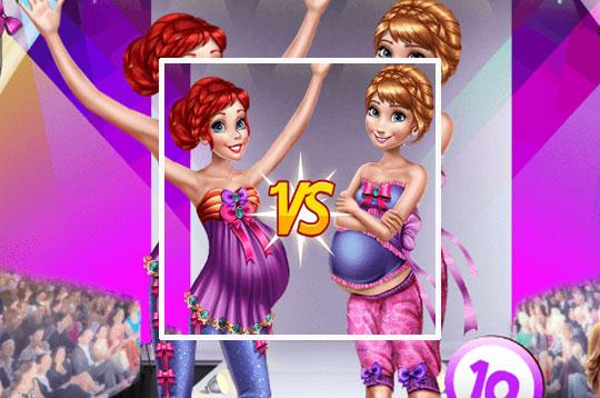 Pregnant Princesses On Catwalk