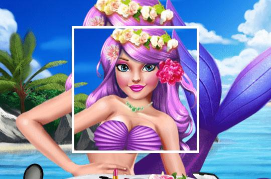 Princess Mermaid Make Up Style