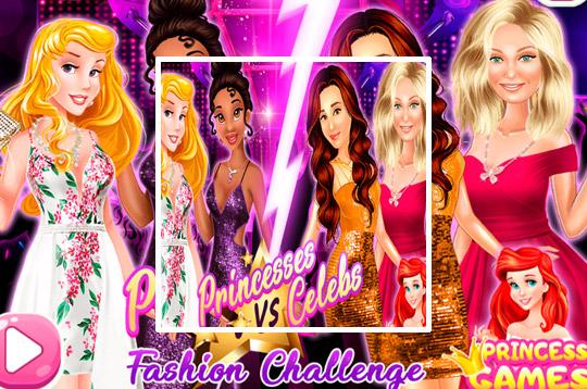 Princesses Vs. Celebs Fashion Challenge