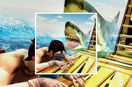 Raft Angry Shark Hunter
