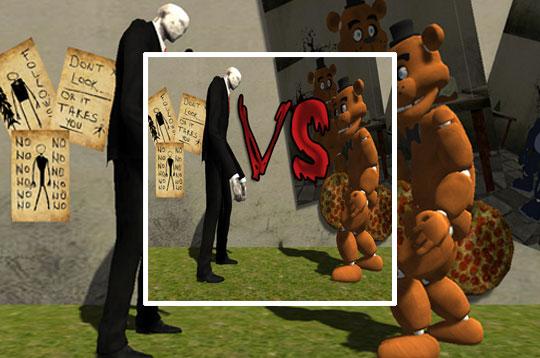 Slenderman vs Freddy Fazbear